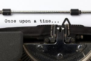 """Words """"Once Upon A Time"""" Written With Old Typewriter by foodbytes"""