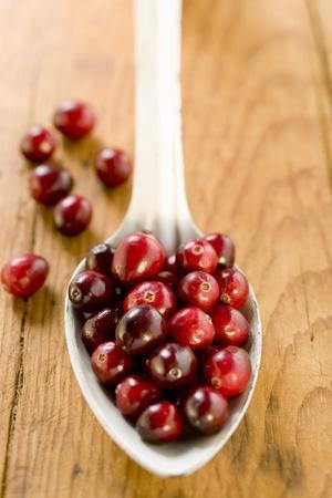 Cranberries on Spoon