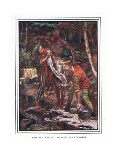 Fool and Want-Wit Washing the Ethiopian-John Byam Liston Shaw-Giclee Print