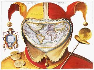 Fool's Cap World Map, C1590