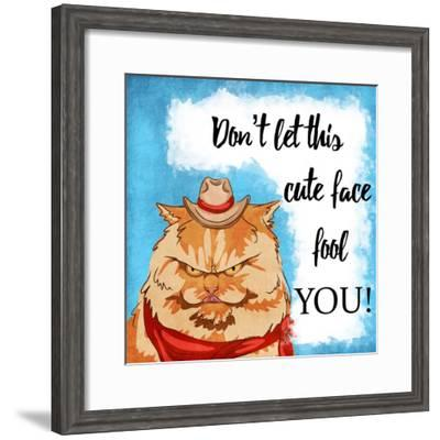 Fooled Cuteness-Marcus Prime-Framed Art Print