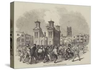 Foot-Ball on Shrove Tuesday, at Kingston-Upon-Thames