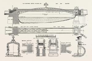 Foot Bridge over the River Welland, at Stamford, Uk, 1882