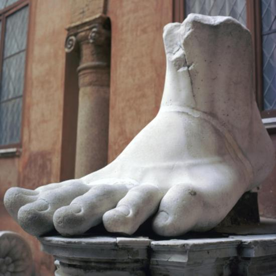 Foot from a colossal Roman statue, 3rd century BC. Artist: Unknown-Unknown-Giclee Print