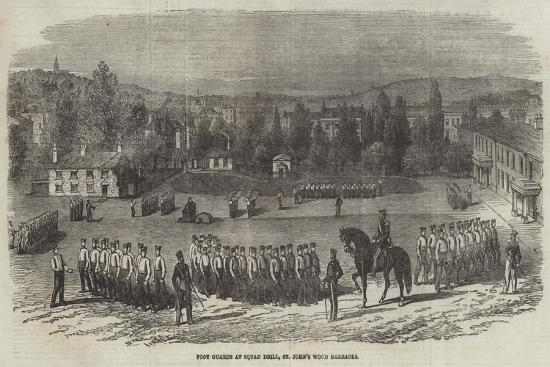Foot Guards at Squad Drill, St John's Wood Barracks--Giclee Print