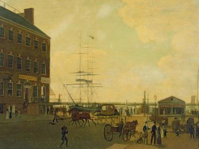 Foot of Cortlandt Street, New York City, C.1818-49--Giclee Print