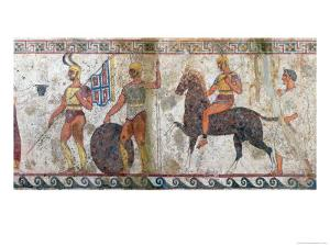 Foot Soldiers and Cavalry, Tomb Painting from Paestum