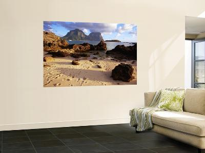 Foot Steps on Sand with View Out to Sea-Kerry Lorimer-Wall Mural