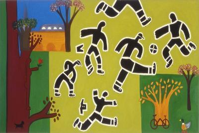 Football at the Park, 2002,-Cristina Rodriguez-Giclee Print