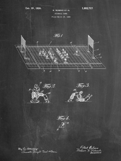 Football Board Game Patent-Cole Borders-Art Print