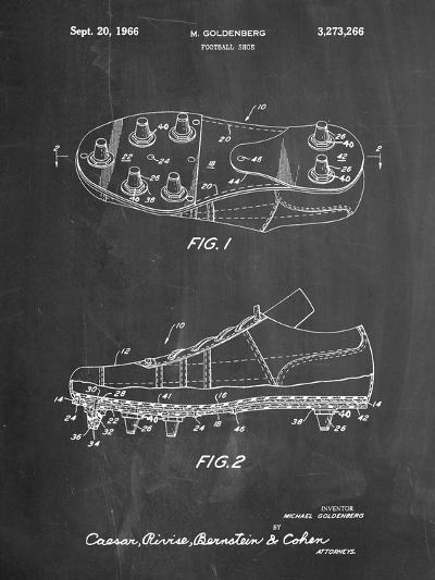 Football Cleat Patent Print-Cole Borders-Art Print