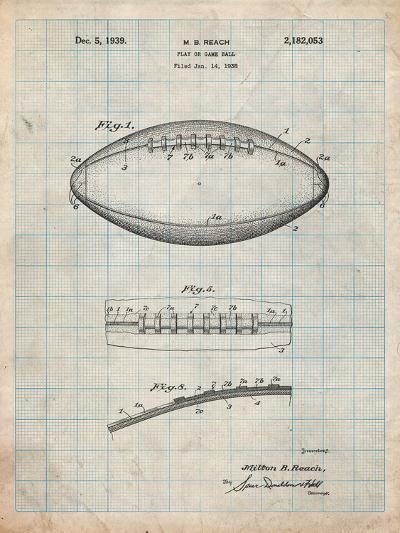 Football Game Ball Patent-Cole Borders-Art Print