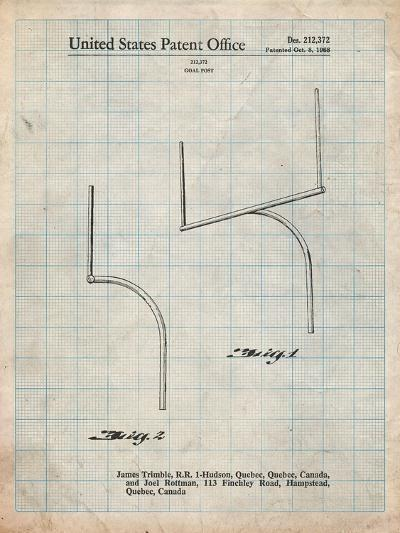 Football Goal Post Patent Print-Cole Borders-Art Print
