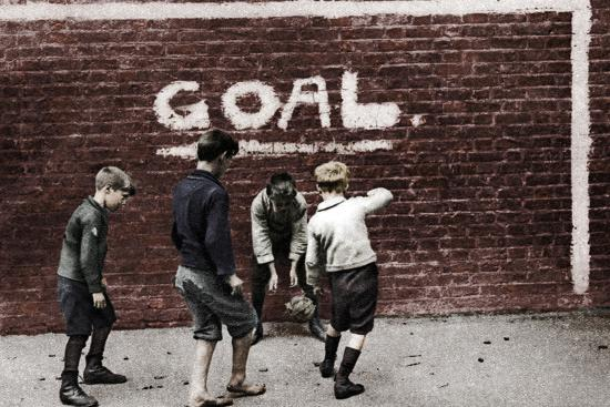 Football in the East End, London, 1926-1927-Unknown-Photographic Print
