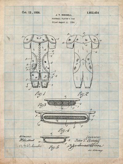 Football Pads Patent-Cole Borders-Art Print