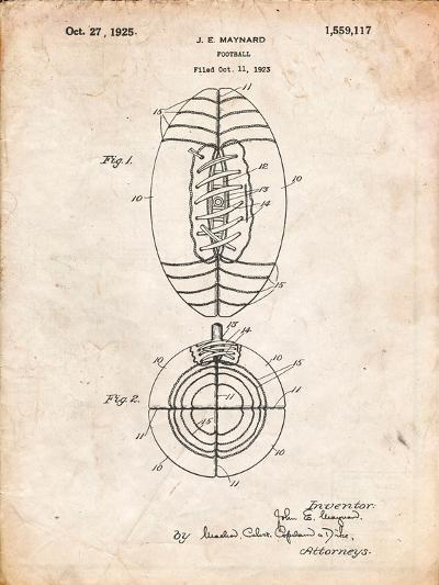 Football Patent 1923-Cole Borders-Art Print