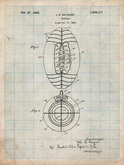 Football Patent 1923-Cole Borders-Art Print