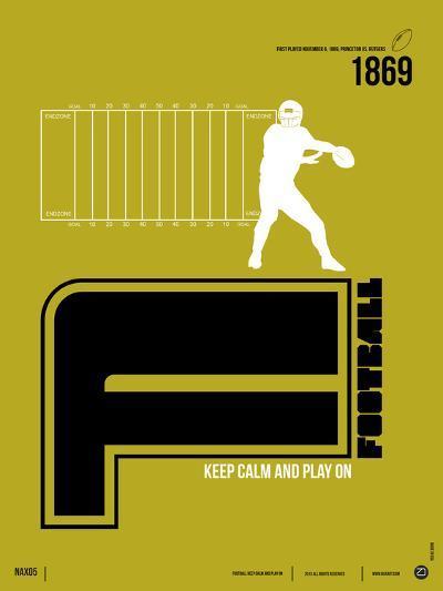 Football Poster-NaxArt-Art Print