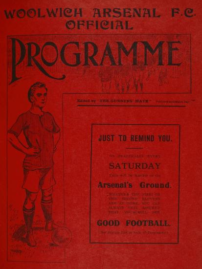 Football Programme--Premium Giclee Print