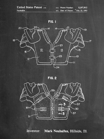 Football Shoulder Pads Patent-Cole Borders-Art Print