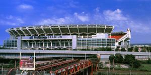 Football Stadium in a City, Firstenergy Stadium, Cleveland, Ohio, USA