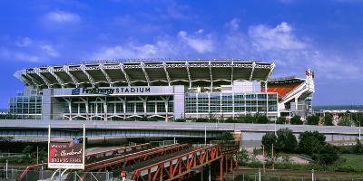 Football Stadium in a City, Firstenergy Stadium, Cleveland, Ohio, USA--Photographic Print