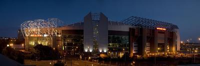 Football Stadium Lit Up at Night, Old Trafford, Greater Manchester, England--Photographic Print
