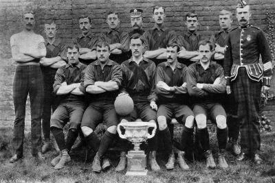 Football Team of the 1st Royal Scots (Lothian Regimen), 1896--Giclee Print