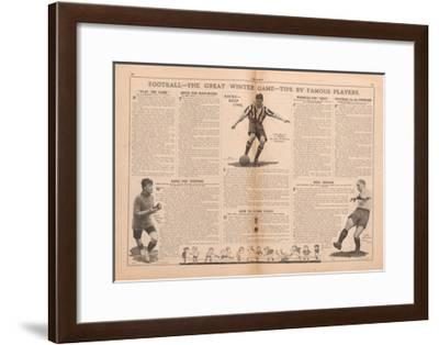 Football - the Great Winter Game - Tips by Famous Players', Article from 'The Scout', 1923--Framed Giclee Print