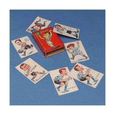 Football Themed Snap Cards with Box--Giclee Print