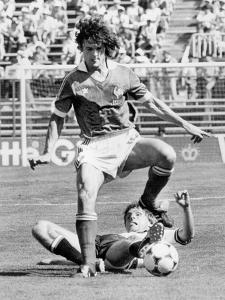 Football World Cup 1982 in Spain : France Team Vs Austria Team, June 28, 1982