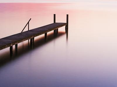 Footbridge at Lake Starnberg-Frank Krahmer-Photographic Print