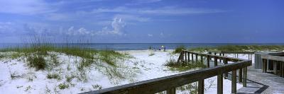 Footbridge on a Beach, St. George Island State Park, Gulf of Mexico, Florida, USA--Photographic Print