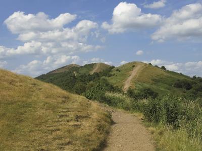 Footpath Along the Main Ridge of the Malvern Hills, Worcestershire, Midlands, England-David Hughes-Photographic Print