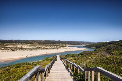 Footpath to the Beach, Praia Da Amoreira, Aljezur, Costa Vicentina, Algarve, Portugal-Sabine Lubenow-Photographic Print