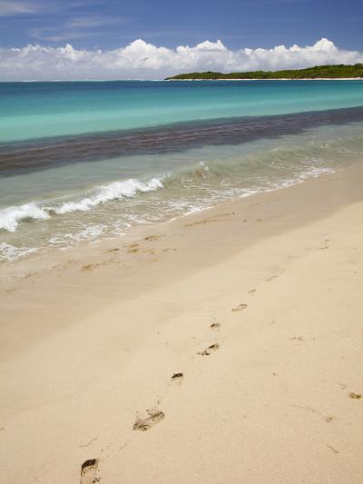 Footprints in Sand on Natadola Beach, Coral Coast, Viti Levu, Fiji, South Pacific-David Wall-Photographic Print