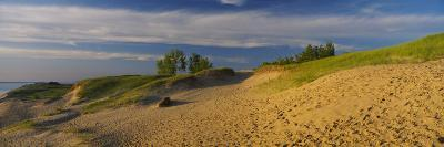Footprints in the Sand, Sleeping Bear Dunes National Lakeshore, Michigan, USA--Photographic Print