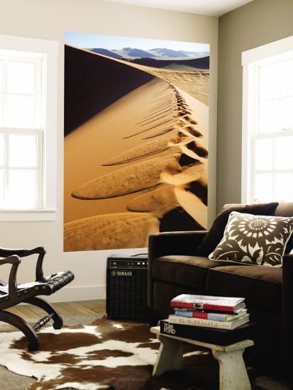 Footprints on Ridge of Sand Dune-Todd Lawson-Wall Mural