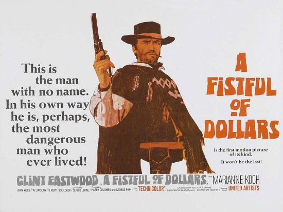 For a Few Dollars More, UK Movie Poster, 1966--Art Print