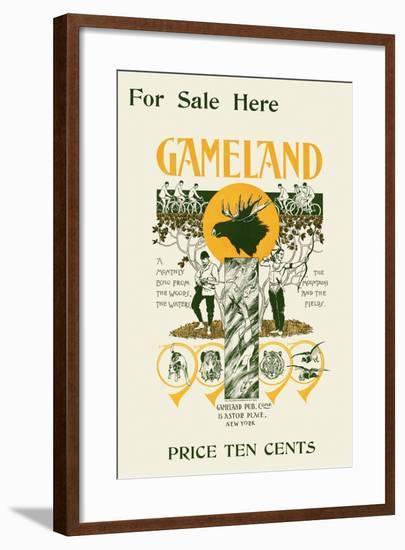 For Sale Here, Gameland--Framed Art Print