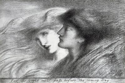'For the Night Must Pass before the Coming Day', 1893-Simeon Solomon-Giclee Print