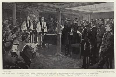 For Those in Peril on the Sea, Sunday Service on Board the Ophir-Frederic De Haenen-Giclee Print