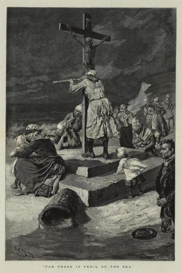 For Those in Peril on the Sea-Charles Stanley Reinhart-Giclee Print