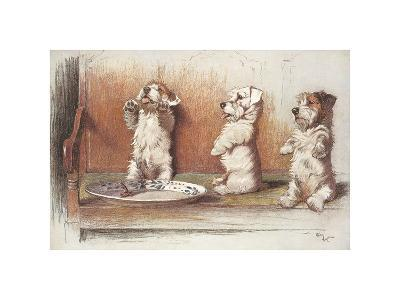 For What We Are About To Receive-Cecil Aldin-Premium Giclee Print