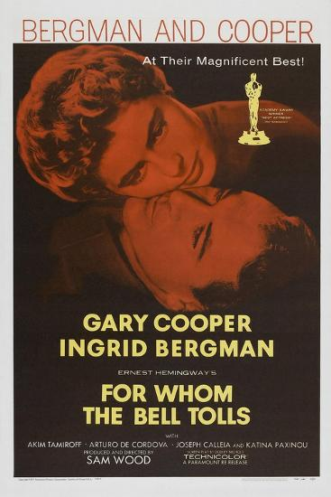 For Whom the Bell Tolls, 1943, Directed by Sam Wood--Giclee Print