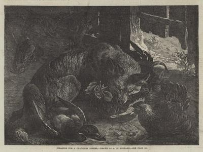Foraging for a Christmas Dinner-George Bouverie Goddard-Giclee Print