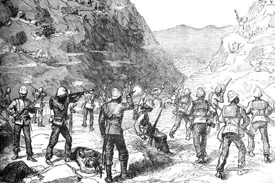 'Foraging Party of the 67th Attacked by the Afghans, (Nov 9, 1879)', c1880-Unknown-Giclee Print