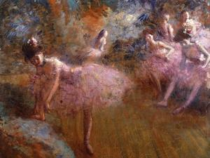 Dancers in Pink by Forain Jean Louis