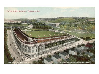 Forbes Field, Pittsburg, America, Home of the Pittsburg Pirates Baseball Team 1909--Giclee Print