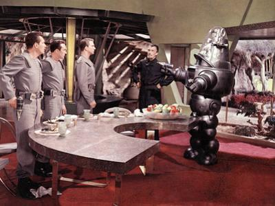 Forbidden Planet, Jack Kelly, Warren Stevens, Leslie Nielsen, Walter Pidgeon, Robby The Robot, 1956